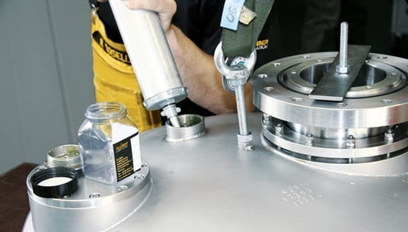 Both the lubricating oils and greases and the lubricated components are analysed